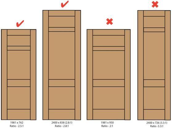 Door Proportions For Internal Doors Wooden Doors Study Room Kids Bedroom House Plans