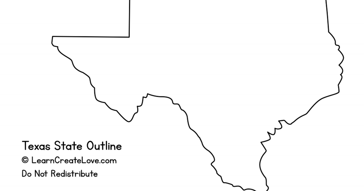 Texasoutline Pdf State Outline Texas State Classroom Tools