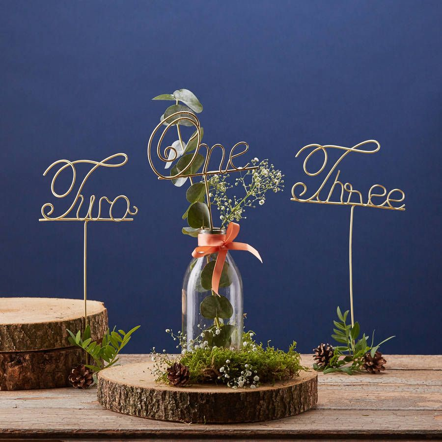 Wire table numbers wedding ideas pinterest table numbers wire table numbers greentooth Gallery
