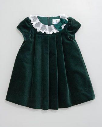 Lace Collar Velvet Dress Neiman Marcus Sweetest Baby Toddler
