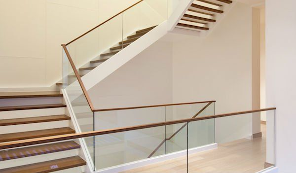 Best Frameless Glass Railing With Wood Stairs Glass Staircase 640 x 480