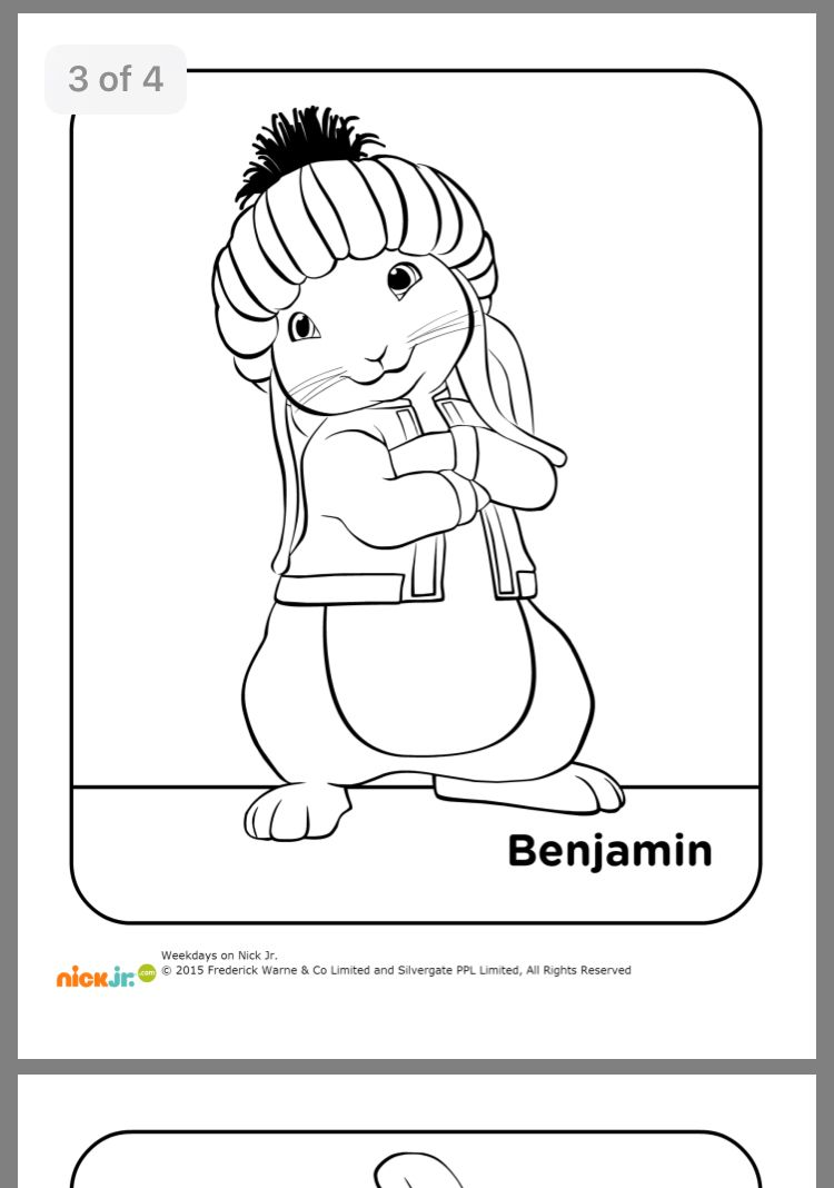Pin By Earlene Meyer On Zo 5th Bday Peter Rabbit Rabbit Colors Colouring Pages Cartoon Coloring Pages