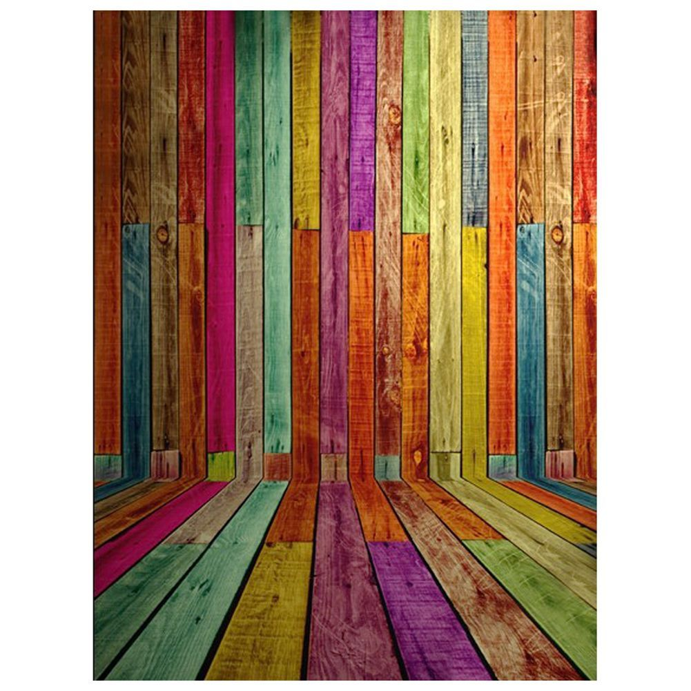3x5ft Colorful Photography Backdrops Photo Wooden Wall Floor Background Studio Props Affiliate