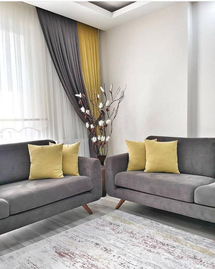 I Like The Harmony Of The Yellow With The Gray Cok Also The Wooden Details Are Great Sar Dream Bedroom Zheltye Gostinye Stili Gostinoj Nebolshie Gostinye