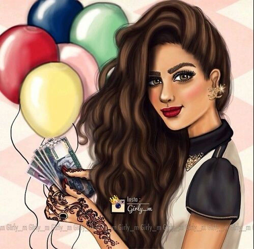 Uploaded By Wenguauque Find Images And Videos About Girly M And Balloons On We Heart It The App To Get Lost In What You L Girly M Digital Art Girl Girly Art