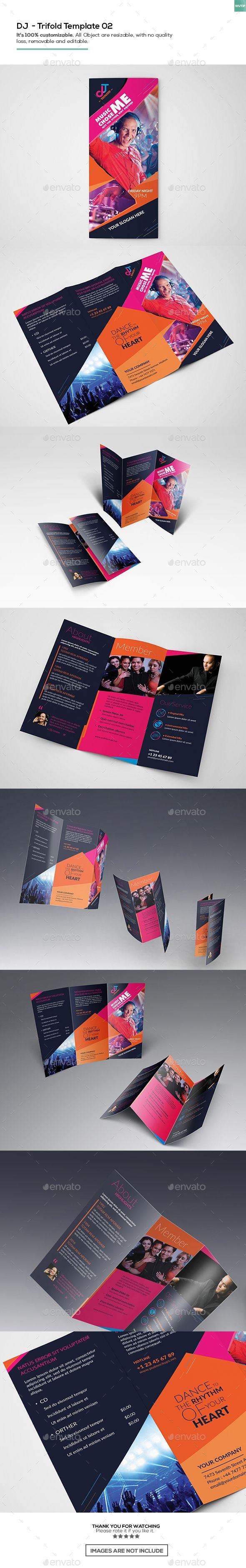 dj trifold brochure template02 maker backgrounds se click here