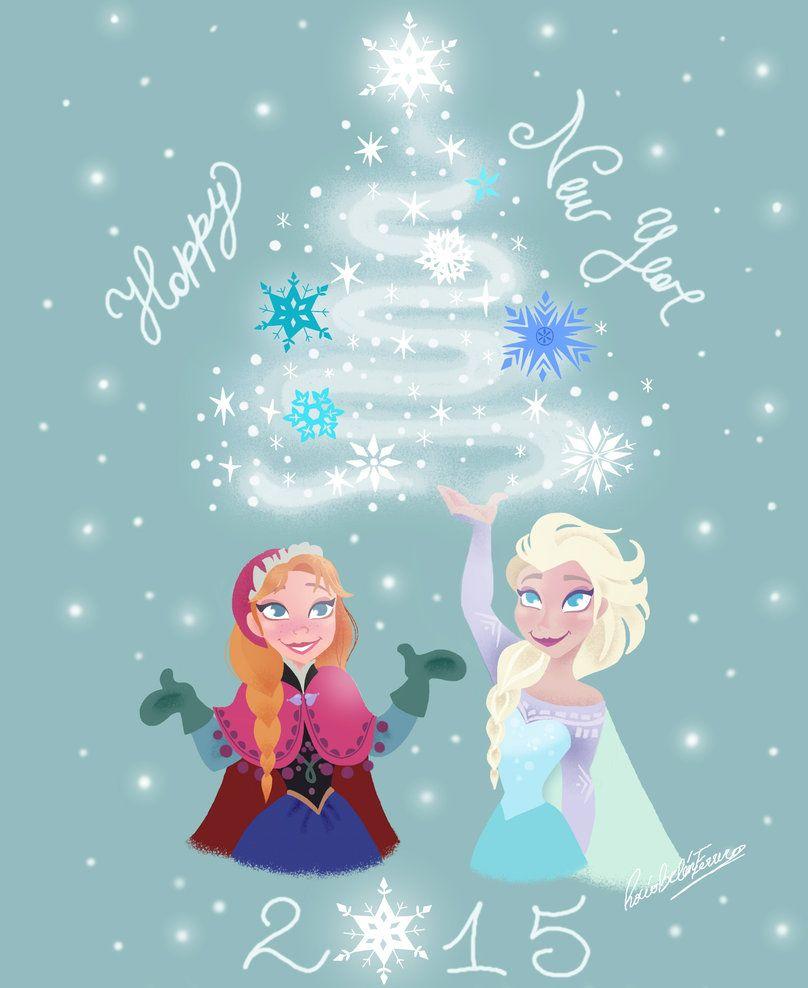 frozen happy new year by princessbeautycase on deviantart