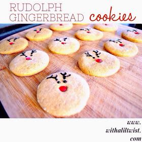 ...with a lil' twist: Simple Rudolph Gingerbread Cookies