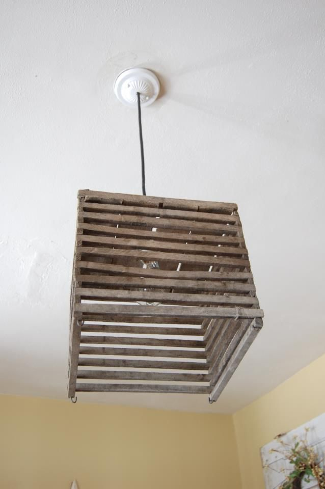 pendant light made from antique egg crate. Follow all my creations on FACEBOOK. Look & pendant light made from antique egg crate. Follow all my creations ... azcodes.com
