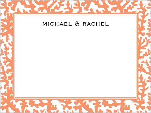 Tangerine Coral Thank You Card $1.29
