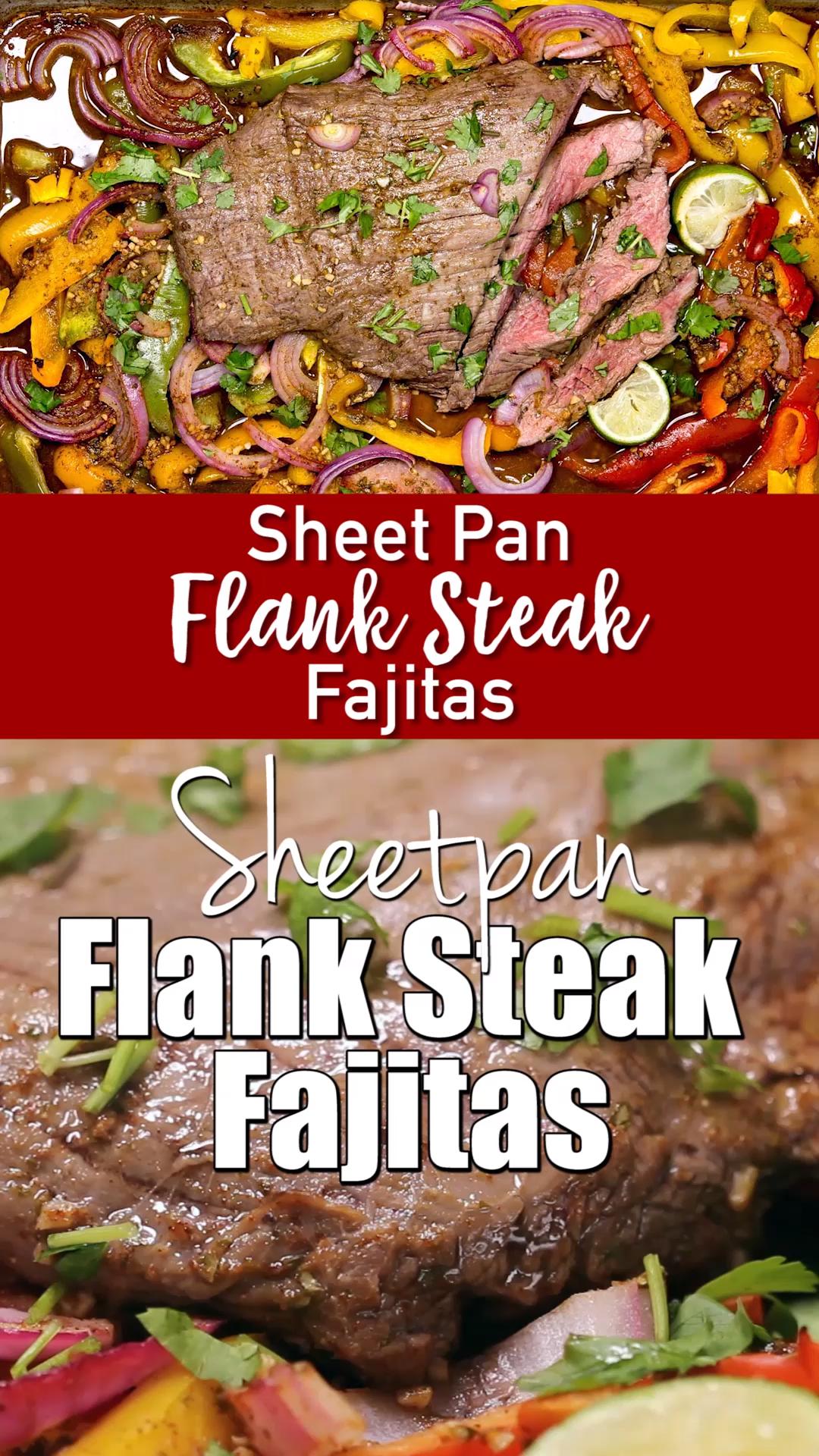 Sheet Pan Flank Steak Fajitas