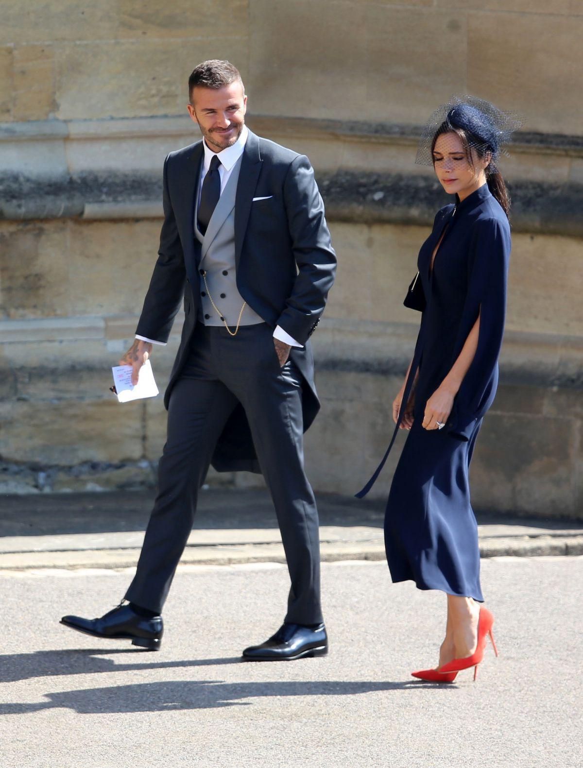 David and Victoria Beckham Royal Wedding at 2018