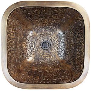 Photo of Linkasink B021 Bathroom Fixtures Bronze Square Brocade Sink