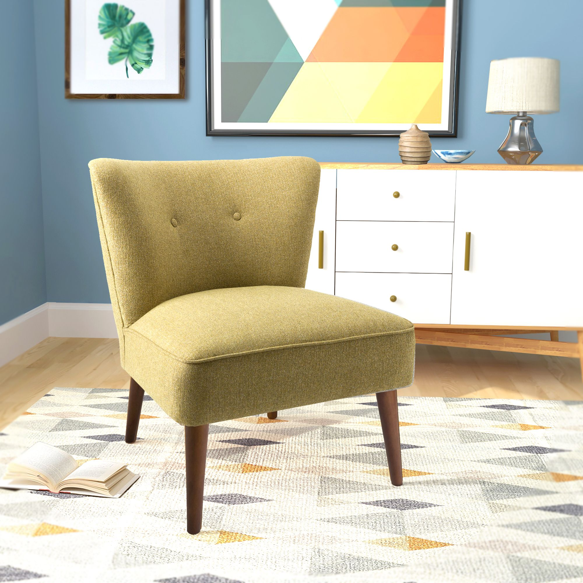 Chadwick Armless Accent Chair Green (With images