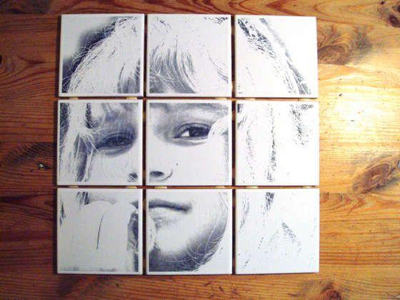 Unique DIY photo tile art