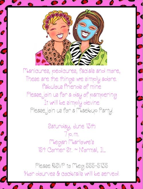 Girls Night Invitation Wording Makeover Makeup Ideas