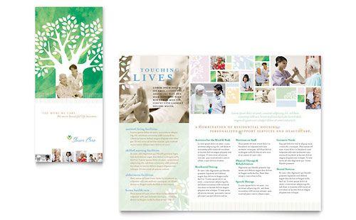 Elder Care Nursing Home Brochure Template Design