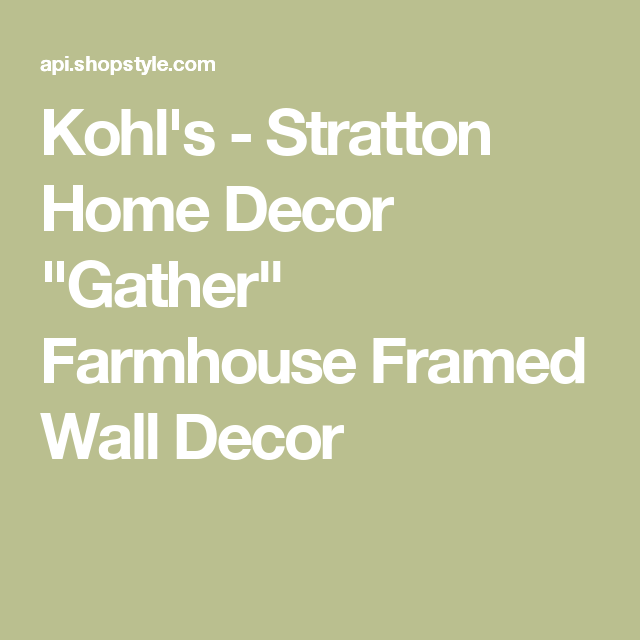 Kohl\'s - Stratton Home Decor \