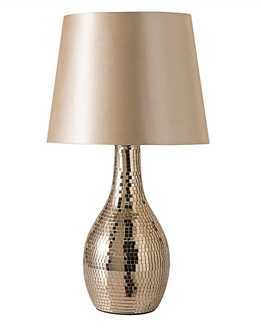 Groovy Rose Gold Mosaic Table Lamp House Of Bath Home Interior Design Ideas Clesiryabchikinfo