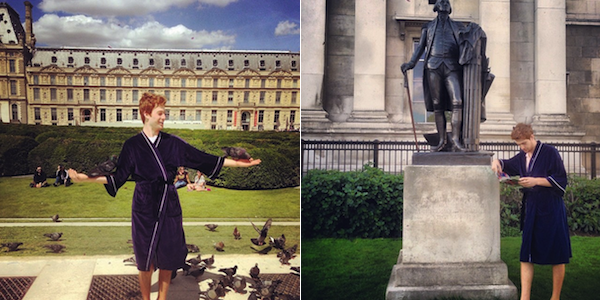 American College Kid Is Traveling The World In A Bathrobe And Instagramming All Of It (Photos)
