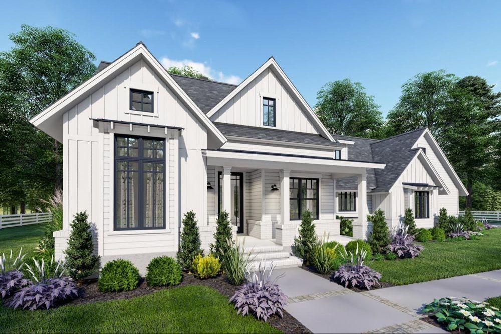 Plan 16909WG: Economical Modern Farmhouse Plan with Two Bonus Rooms