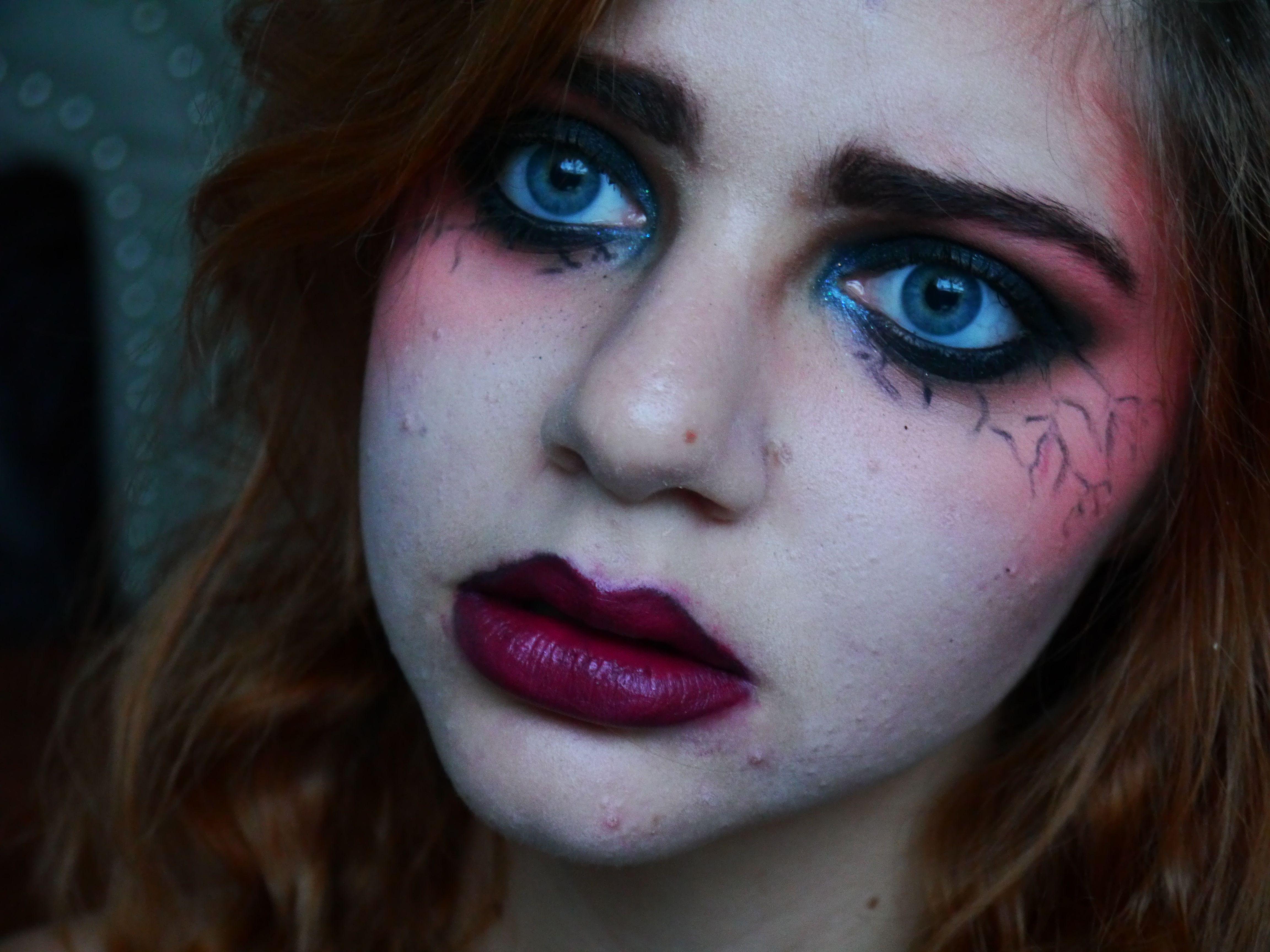 Halloween, the sad reality. halloween fullfacemakeup