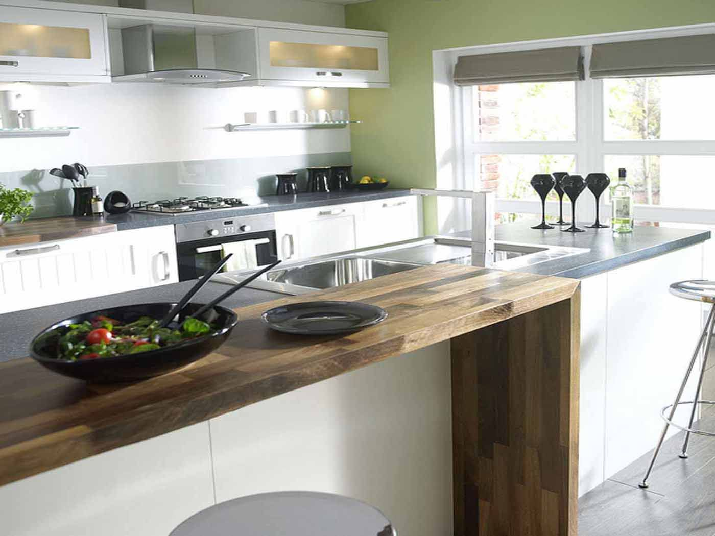 Kitchen, Cool Lighting Modern Ikea Ktichen Designs With Gray Tabletop And  Wooden Counter With Black