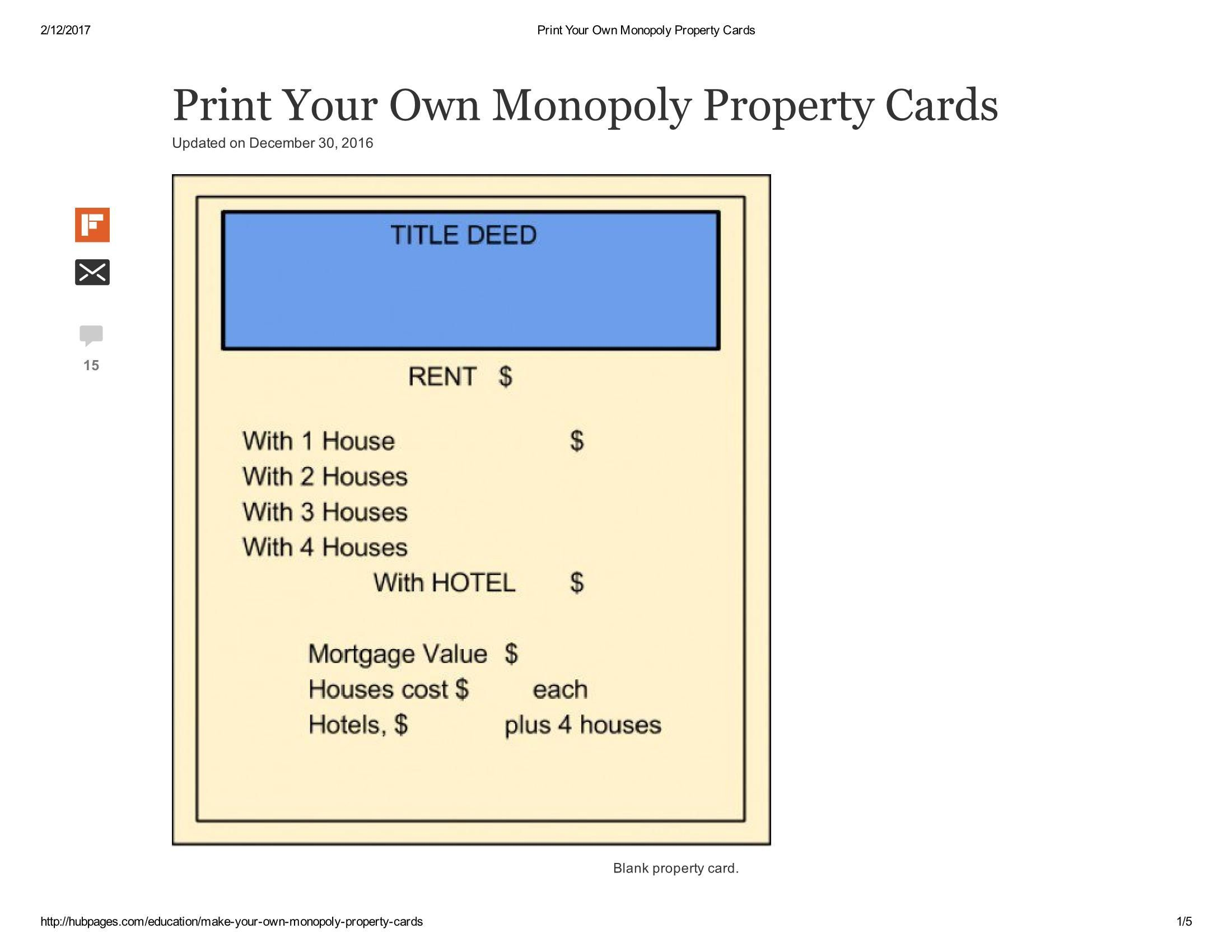 Print Your Own Monopoly Property Cards Document With Monopoly Property Card Template Cumed Org Monopoly Cards Card Template Card Templates Printable