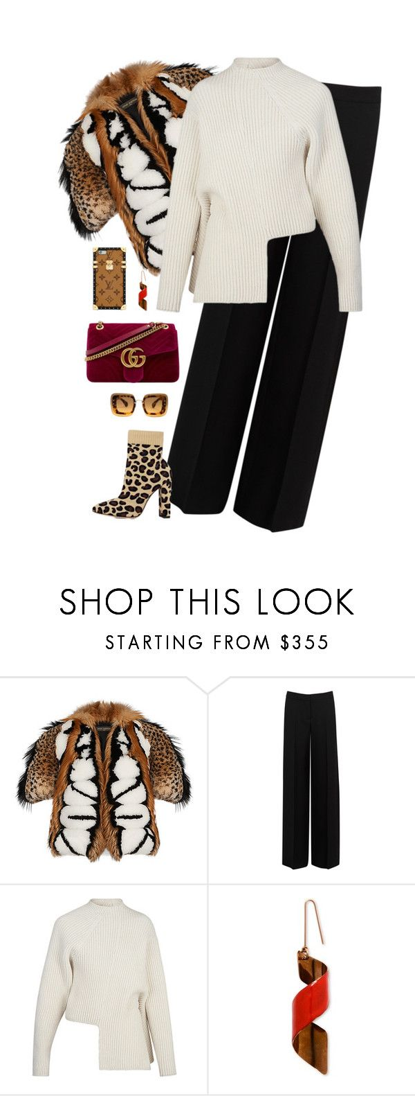 """""""Gucci burgundy bag and Louis Vuitton pull and jacket"""" by hugovrcl ❤ liked on Polyvore featuring Alexander McQueen and STELLA McCARTNEY"""