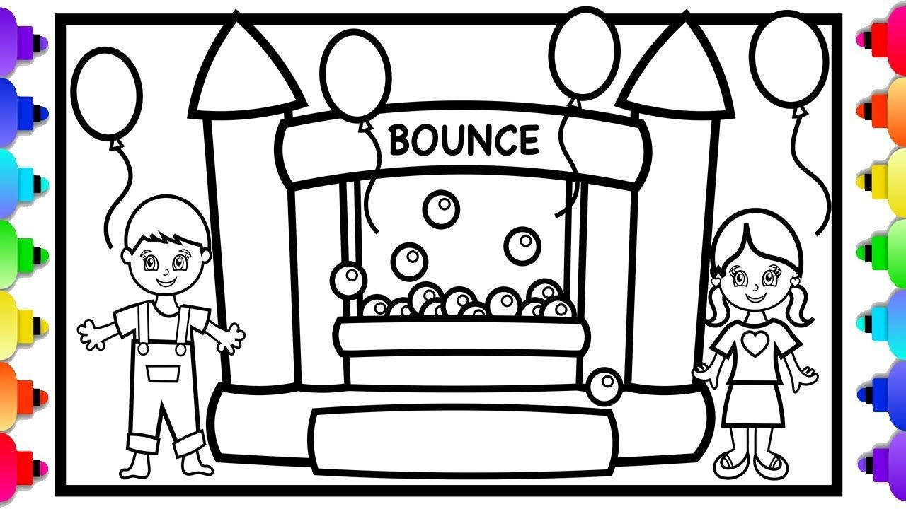 Bounce House Coloring Pages