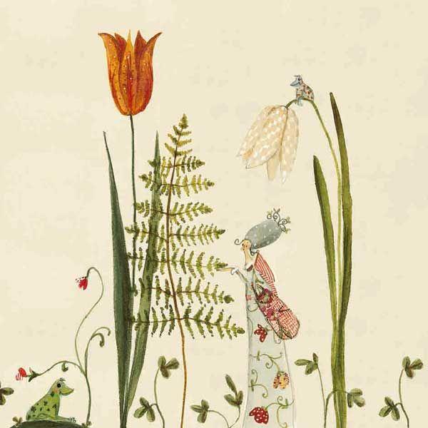 Servietten Farn Silke Leffler Silke Indische Blumen