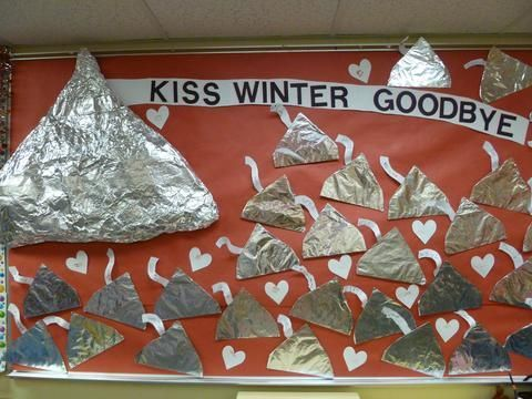 Kiss Winter Goodbye Bulletin Board   MyClassroomIdeas.com