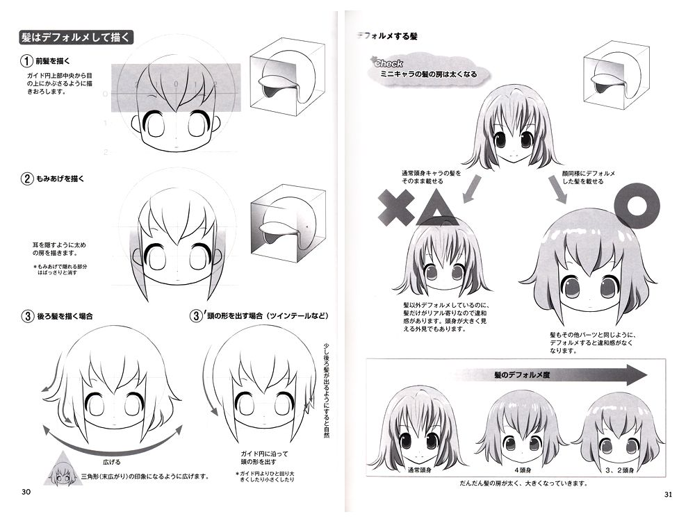 How to Draw Moeoh Characters Chibi (SD) Characters