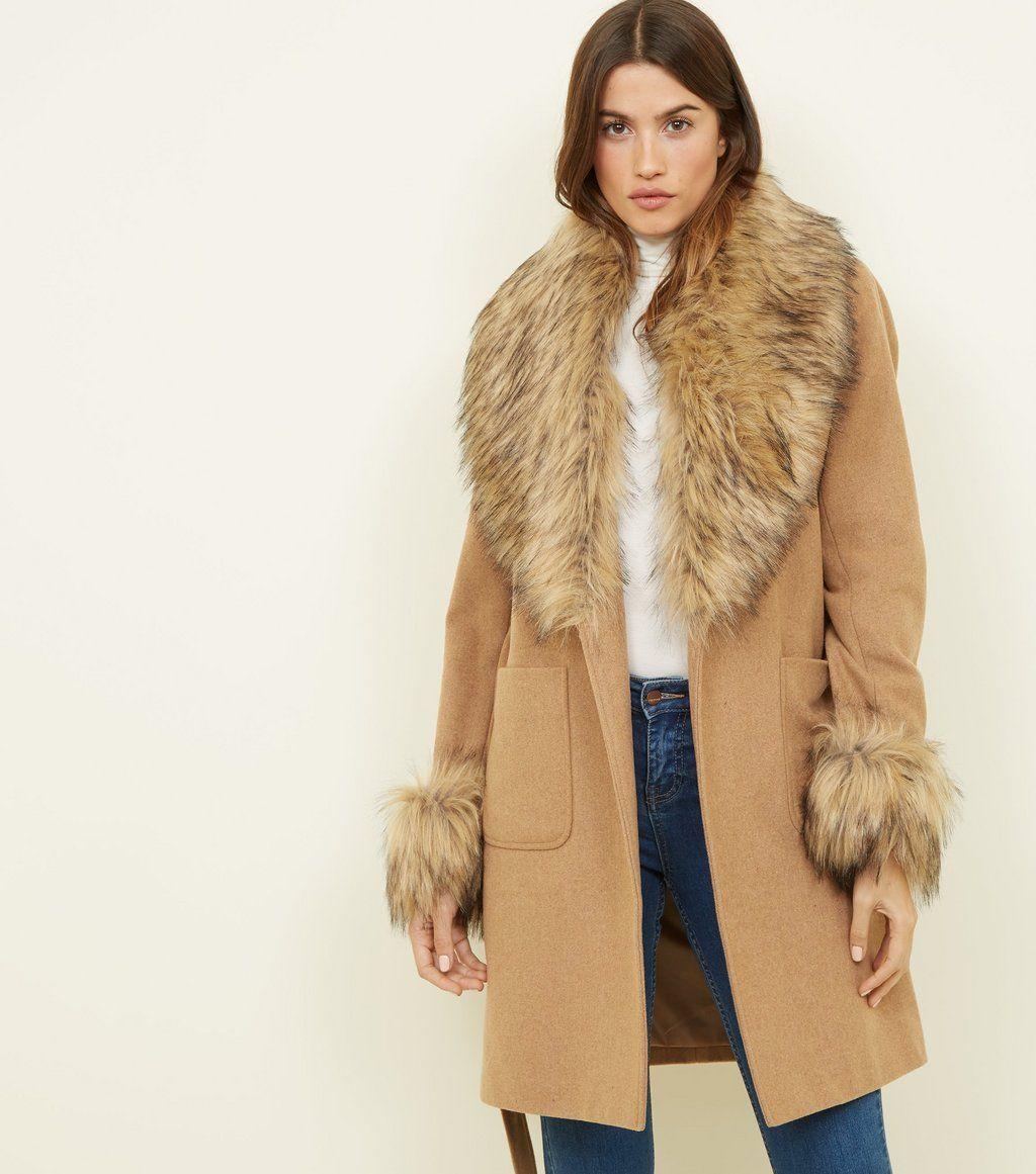 how to serch on sale On Clearance Black Detachable Faux Fur Trim Coat | Vetements | Fur trim ...