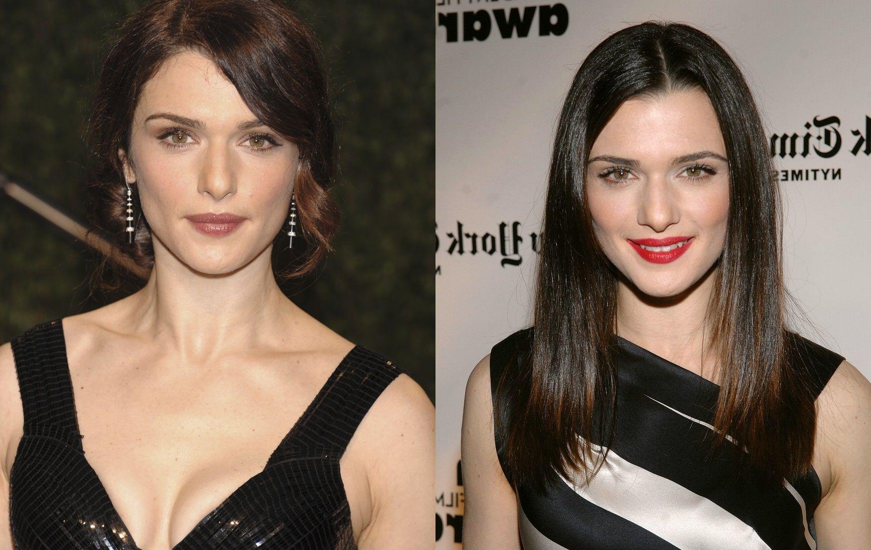 rachel weisz face lift plastic surgery before and after photos