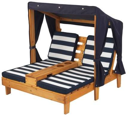 Home Double Chaise Lounge Outdoor Pool Lounge Chairs