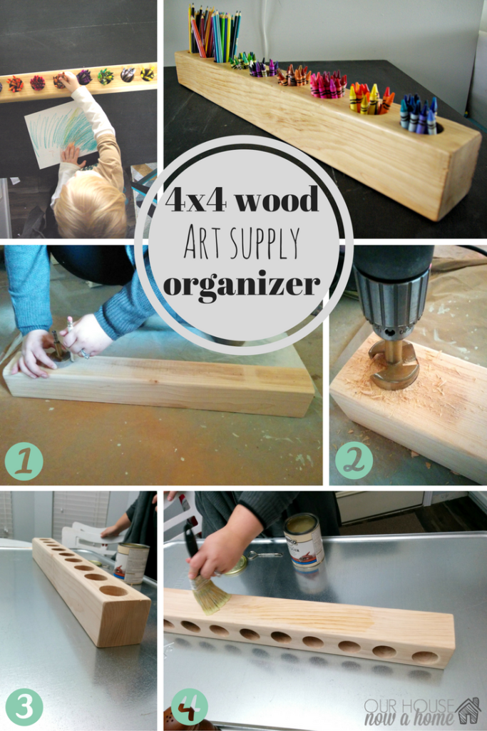 Photo of How to make a 4×4 wood and rustic art supply organizer • Our House Now a Home