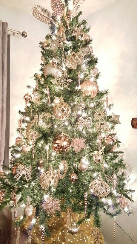 Rose Gold Christmass Tree Pink Christmas DecorationsBlue