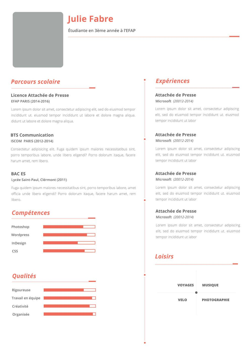 CV étudiant + LM Cv étudiant, Etudiant, Cv créatif