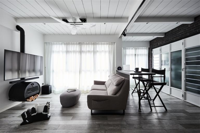 Industrial Loft Inspired Three Room Hdb Bto Home In Punggol Home Industrial Loft Design Home Decor