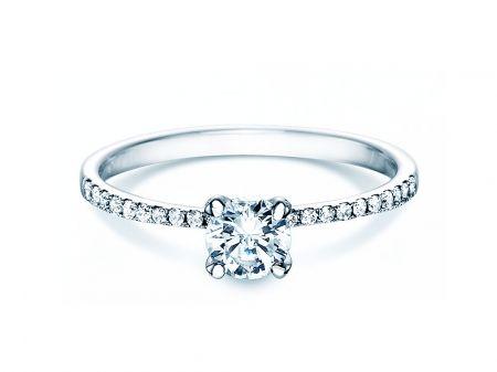 Verlobungsring Grace In 18k Weissgold Mit Diamant 0 70ct