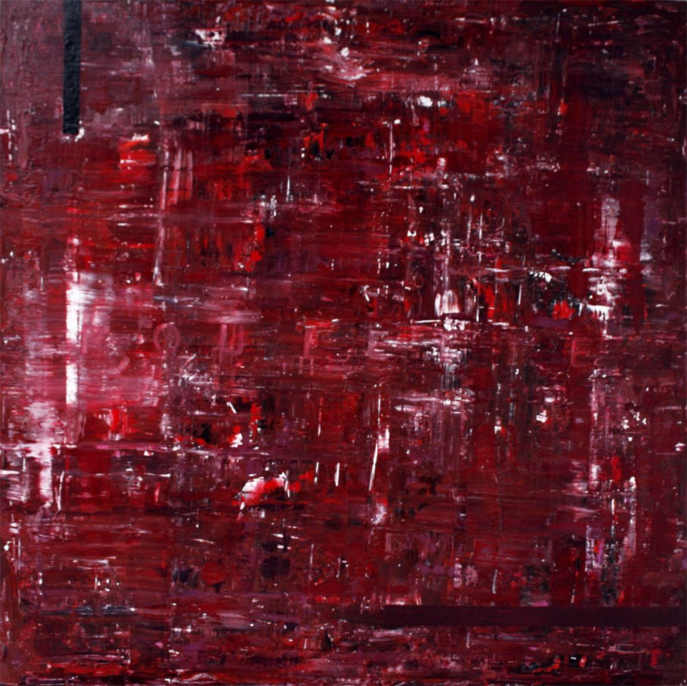 Roulette 48 X48 X2 Acrylic Acrylic Enamel Fabric On Extruded Polystyrene Panel 2012 Wine Colored Art Painting Painting