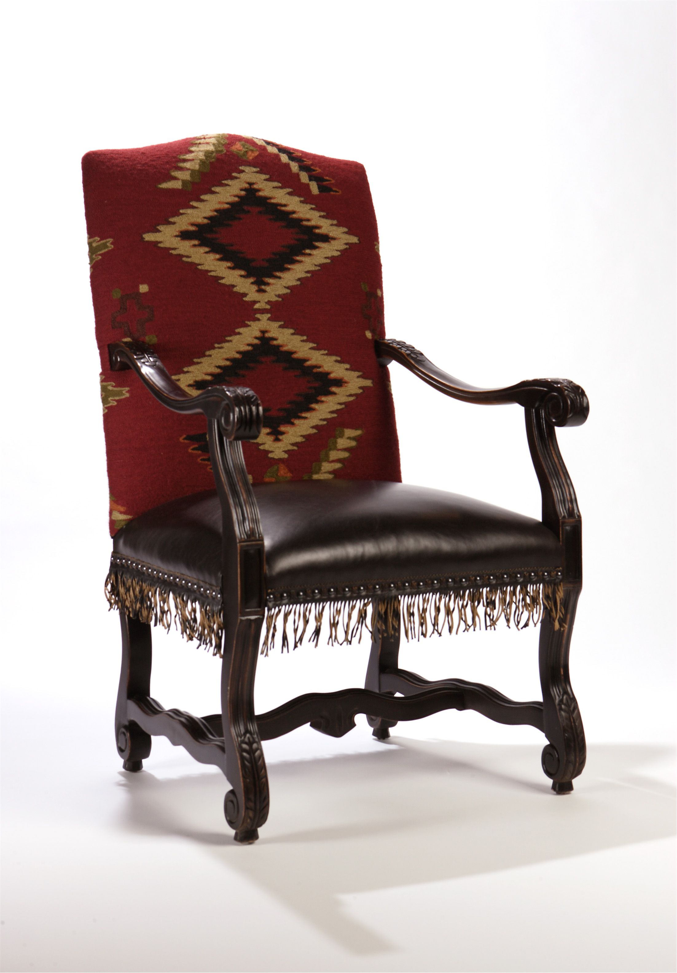 Good Eye Dazzler Navajo Rug Arm Chair, Double D Ranch Home Collection