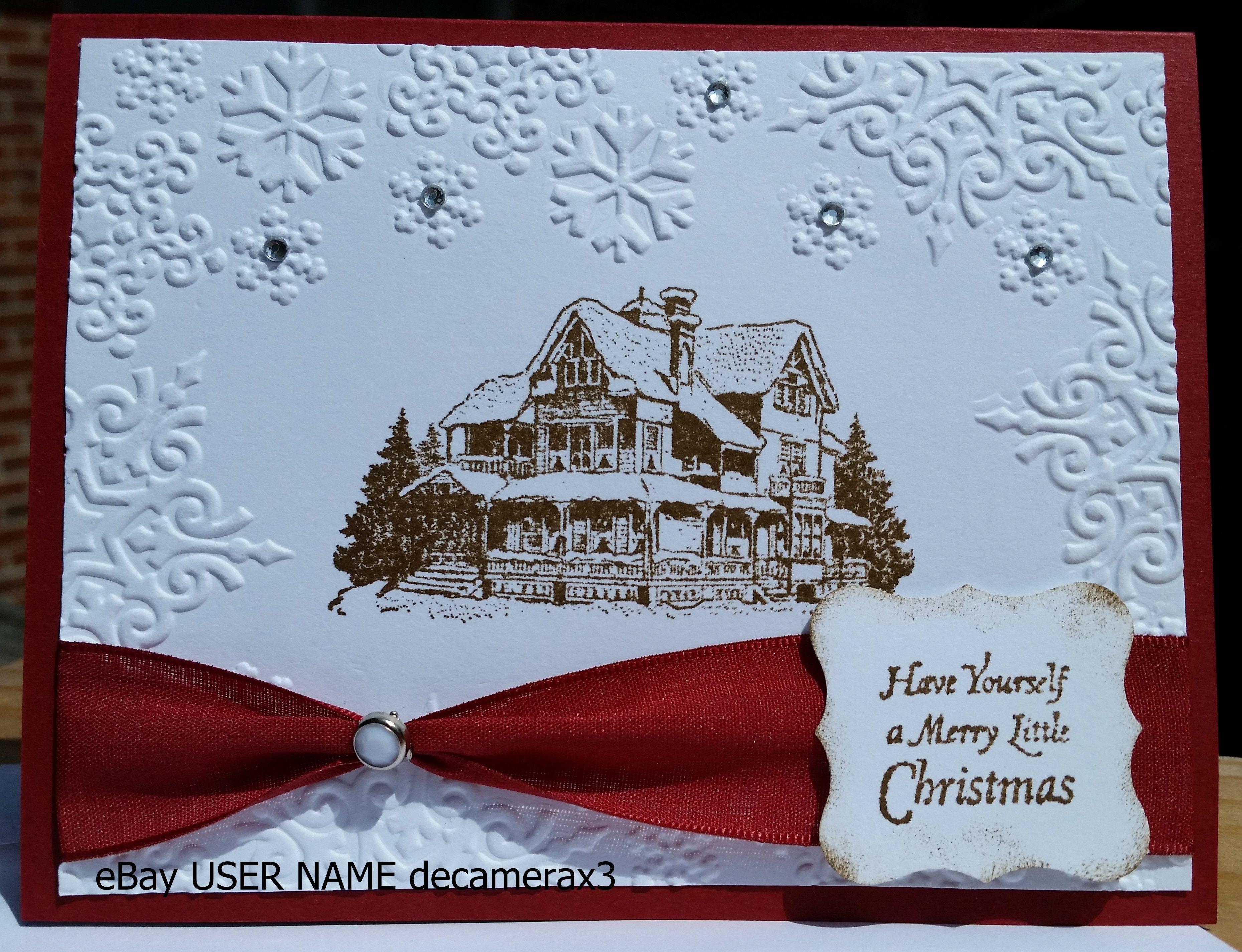 Handmade christmas card using christmas lodge by stampin up stampin up christmas lodge find this pin and more on handmade christmas cards kristyandbryce Gallery