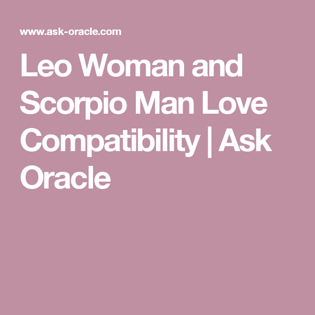 scorpio male leo female