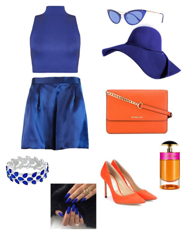 """""""Madam"""" by taliaroyceofficial ❤ liked on Polyvore featuring Plakinger, Jimmy Choo, MICHAEL Michael Kors, Tom Ford, WearAll and Prada"""