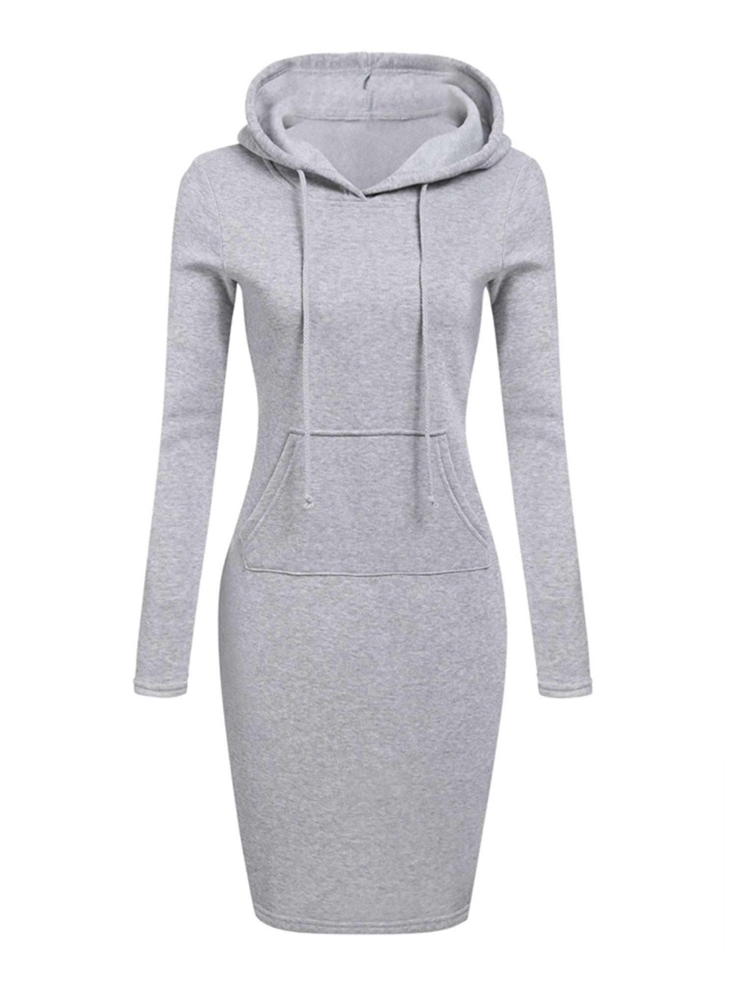 Wodstyle Womens Winter Drawstring Long Sleeve Slim Hoodie Dress Walmart Com Womens Sweatshirt Dress Women Long Sleeve Dress Women Hoodies Sweatshirts [ 2000 x 1500 Pixel ]