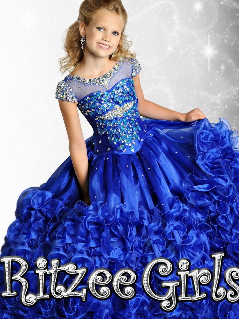 Winning Ritzee Girls Pageant Gown 6910|PageantDesigns.com | Ritzee ...
