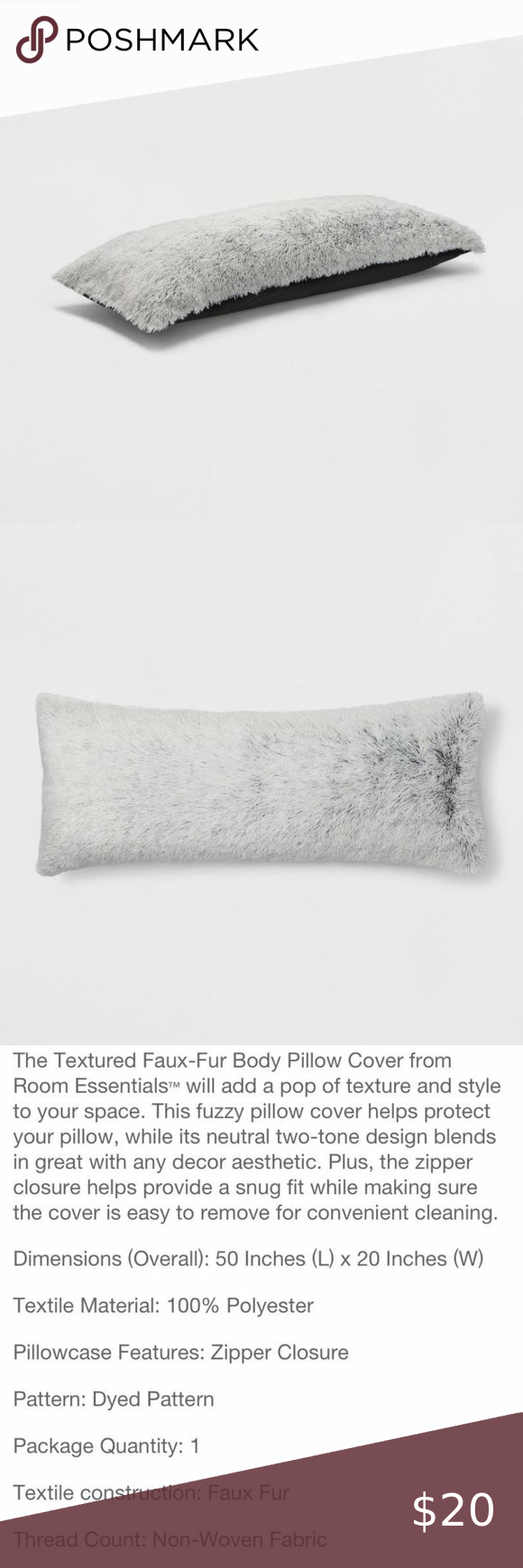 textured faux fur body pillow cover