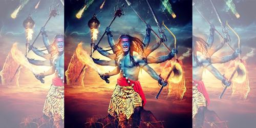 Virabadhra Adalah Wujud Lain X2f Awatara Bhatara Siwa Yang Sangat Ditakuti Oleh Dewa Dewa Lainnya Setelah Apa Yang Ia Lakukan Di Art Painting Superhero